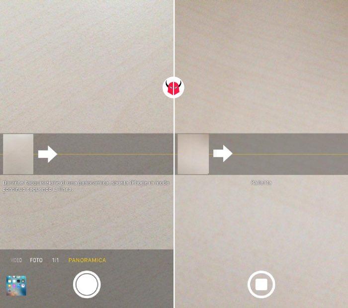 come fare foto a 360 gradi con iPhone modalità Panoramica