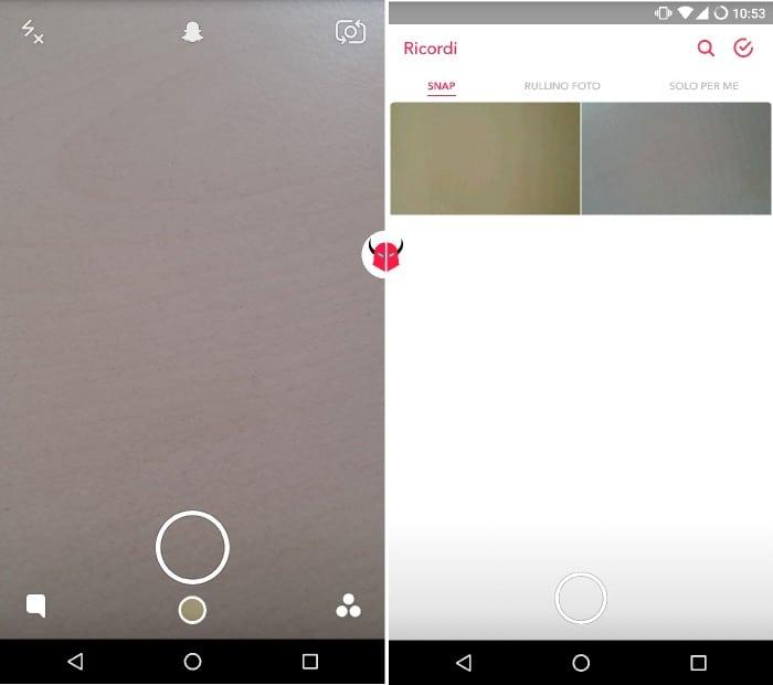 come funzionano i Ricordi su Snapchat accesso