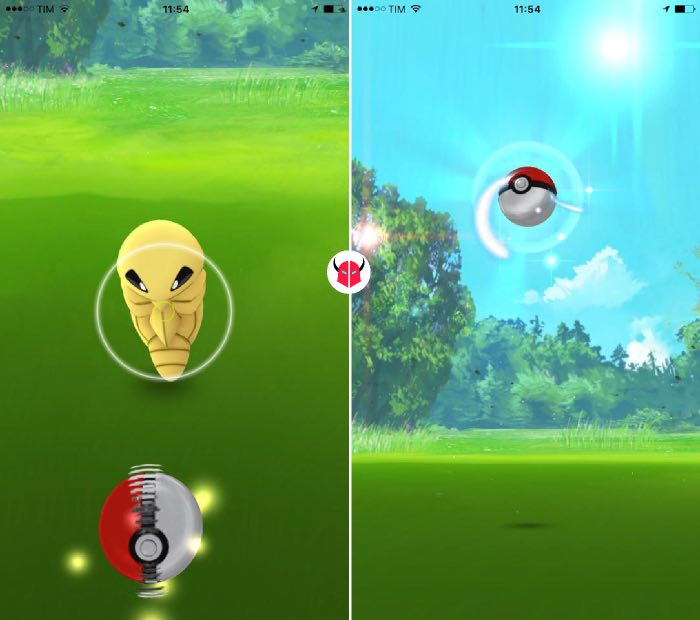 come prendere Pokemon in Pokemon Go Poké Ball curva