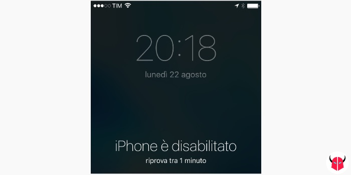 come sbloccare iPhone disabilitato avvertenza