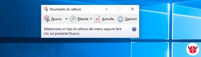 come fare screenshot Windows 10 strumento di cattura