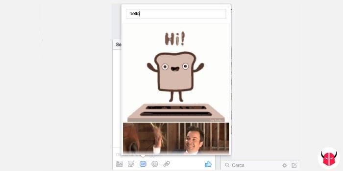 come inviare GIF in chat Facebook con il computer