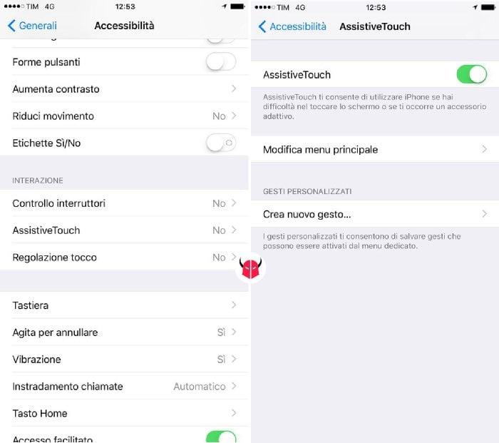 come spegnere iPhone senza tasto attivazione AssistiveTouch