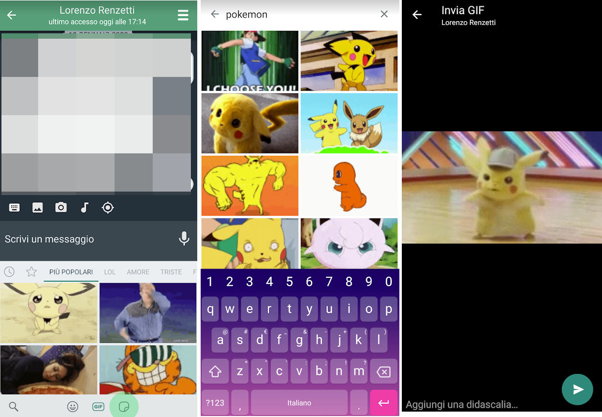 come inviare le GIF su WhatsApp Android