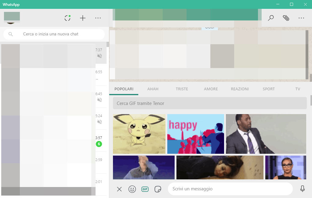 come inviare le GIF su WhatsApp Desktop