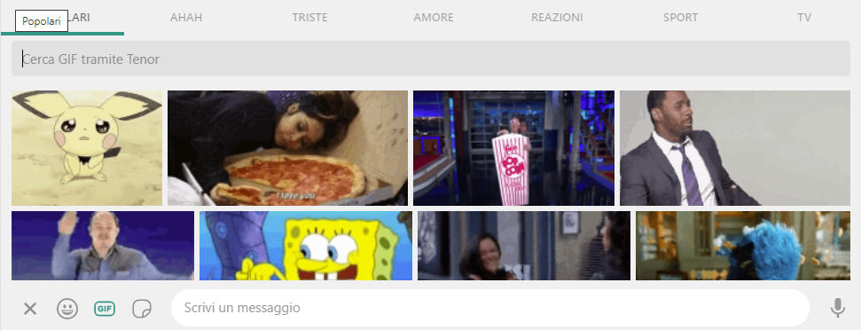 come inviare le GIF su WhatsApp Web