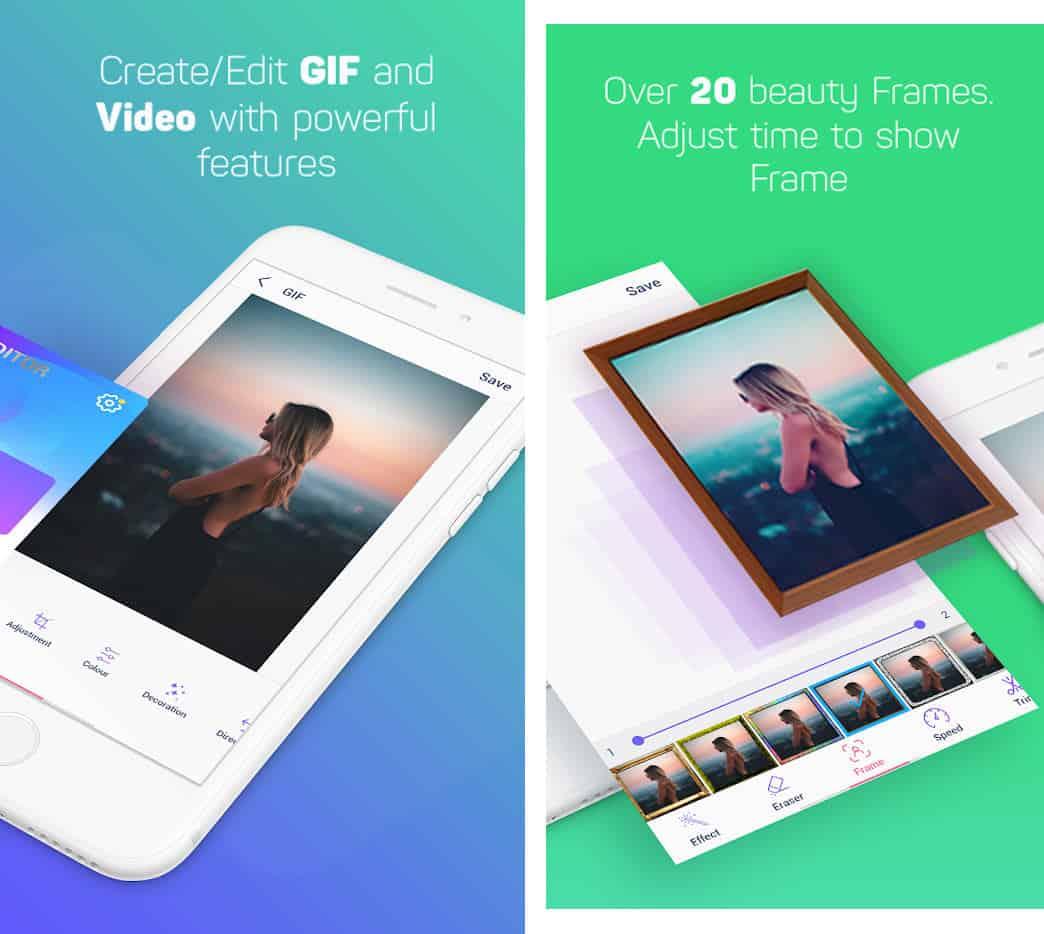 come inviare le GIF su WhatsApp esempio app Creatore di GIF