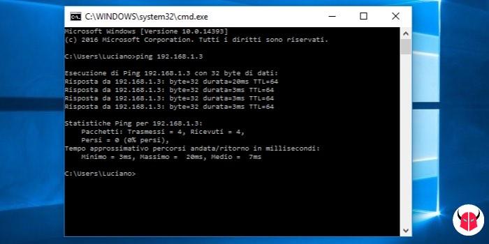 come aggiungere stampante di rete Windows 10 ping