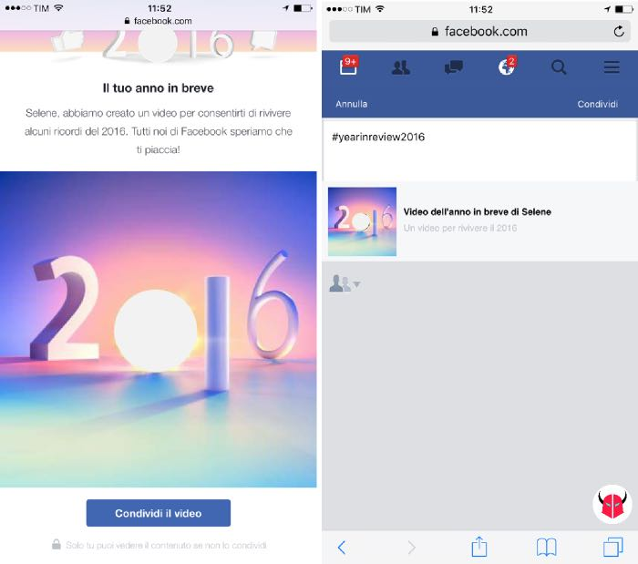 come fare Facebook Year in Review 2016 link