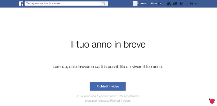 come fare Facebook Year in Review 2016 problemi