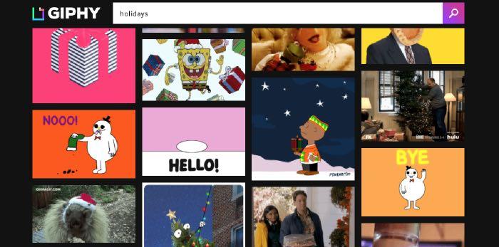 come fare gli auguri di Buone Feste su Facebook GIF