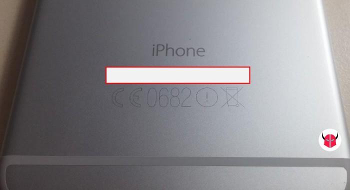 come trovare IMEI iPhone scocca