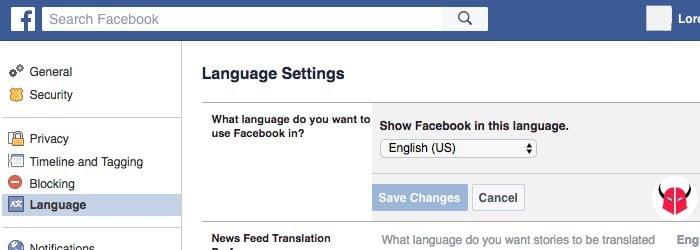 come vedere i mi piace di un amico su Facebook lingua inglese e Facebook Search