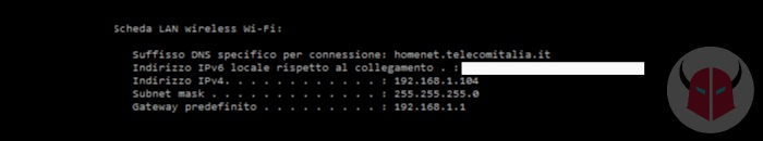 come disattivare DHCP router indirizzo IP Gateway cmd