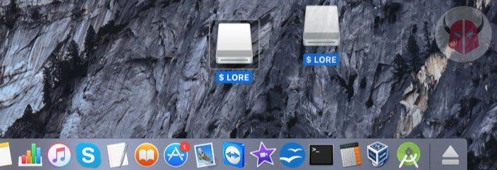 come espellere chiavetta USB da Mac trasferimento nel cestino