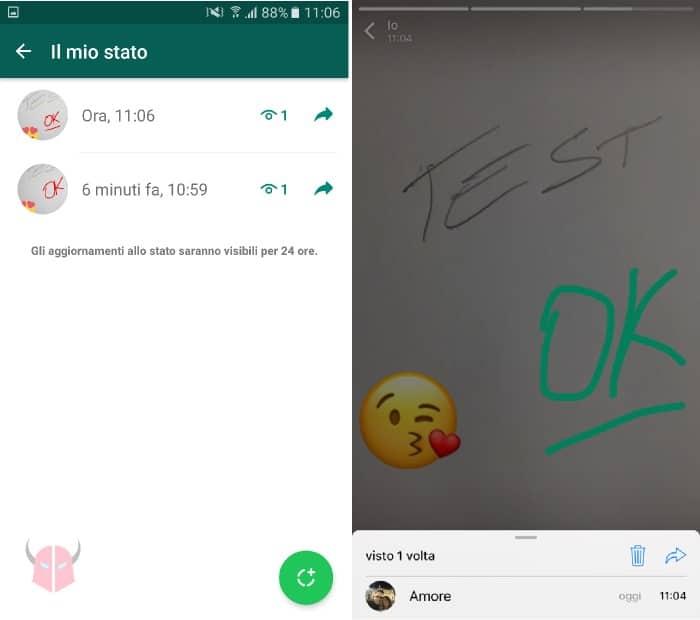 come funzionano le Storie su WhatsApp controllare chi ha visto uno Stato Android e iPhone