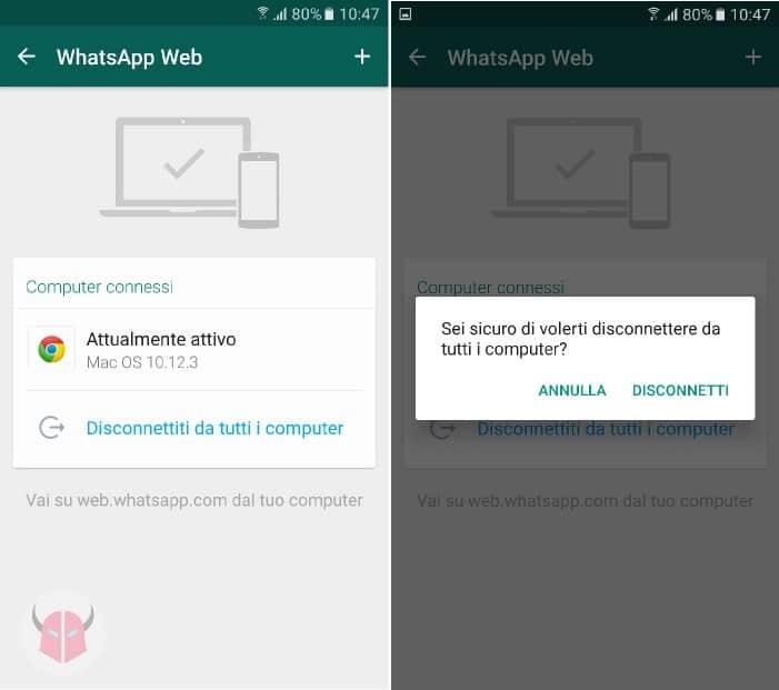 perché risulto sempre online su WhatsApp computer connessi WhatsApp Web