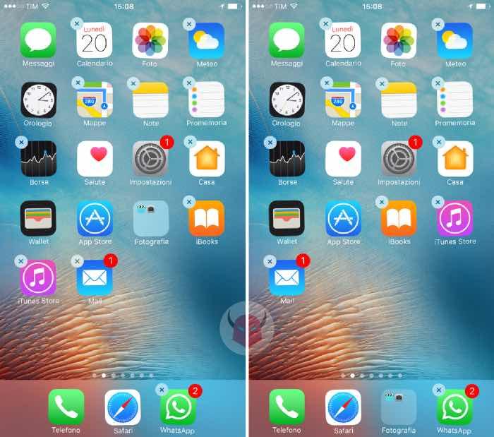 come creare cartelle per app su iPhone spostamento nel Dock