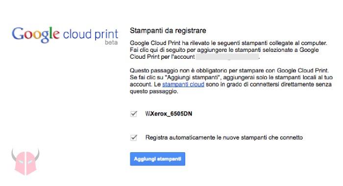 come stampare da iPhone senza AirPrint con Google Cloud Print
