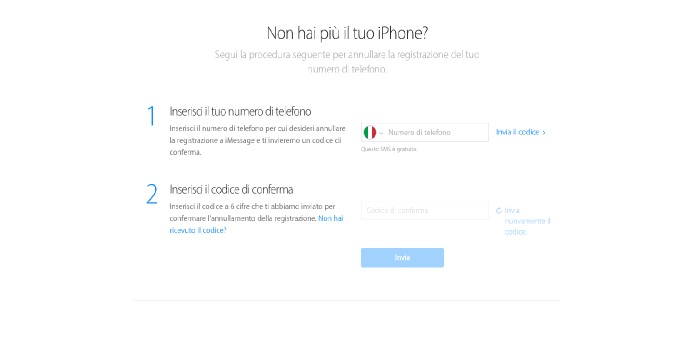 come disattivare iMessage su iPhone annullamento online Apple