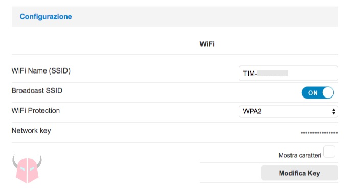 come cambiare password WiFi router configurazione