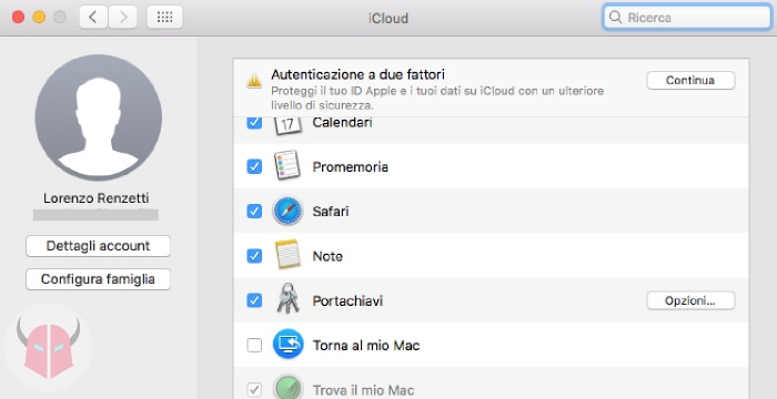 come impostare rete WiFi preferita su Mac Portachiavi iCloud