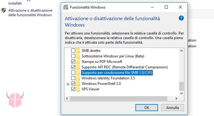 come patchare Windows per WannaCry Ransomware disattivazione SMBv1