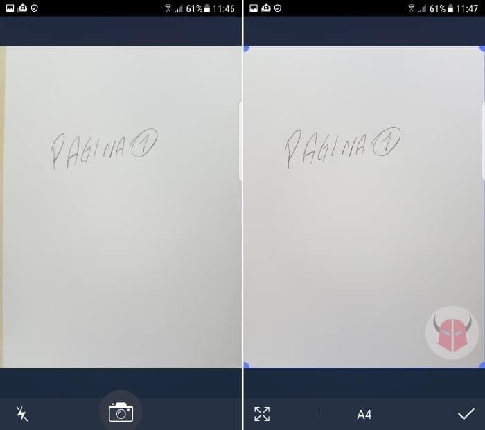 come creare PDF con Android app TinyScan