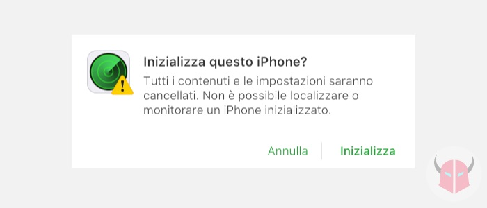come inizializzare iPhone iCloud Trova il mio iPhone