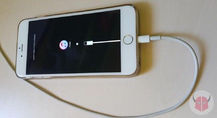 come inizializzare iPhone modalità DFU logo iTunes