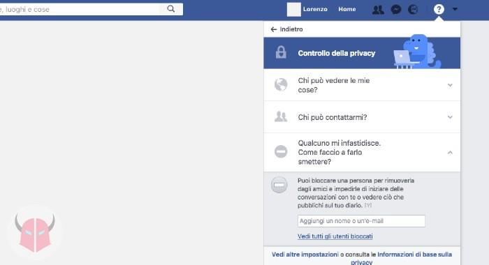 come sbloccare una persona bloccata su Facebook Computer