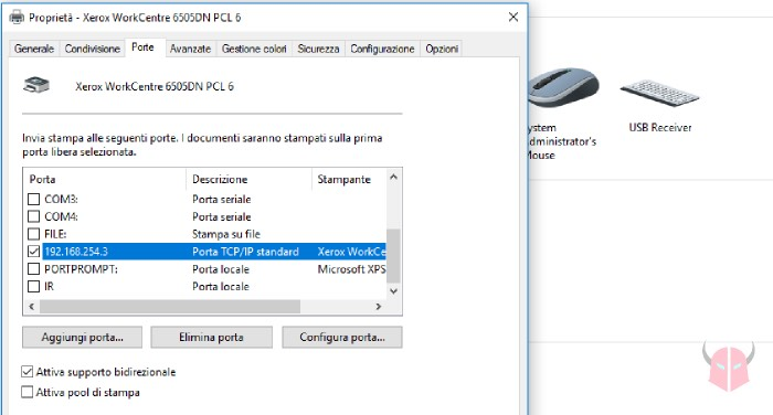 come vedere indirizzo IP di una stampante di rete porta di stampa