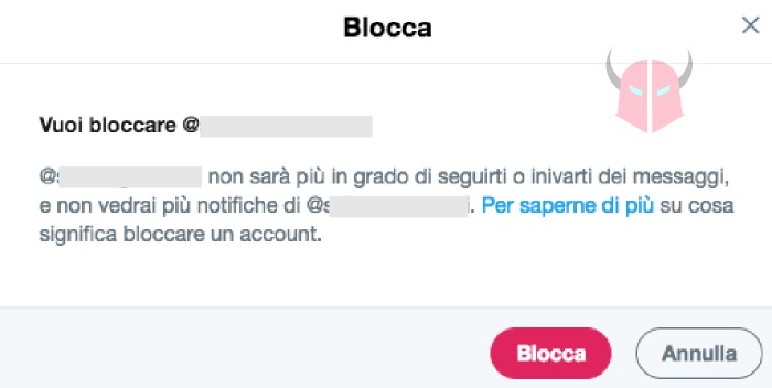 come bloccare un follower su Twitter da Web