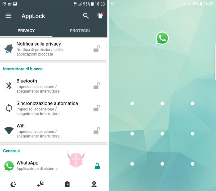 come difendersi da chi ti spia su WhatsApp password accesso AppLock Serratura