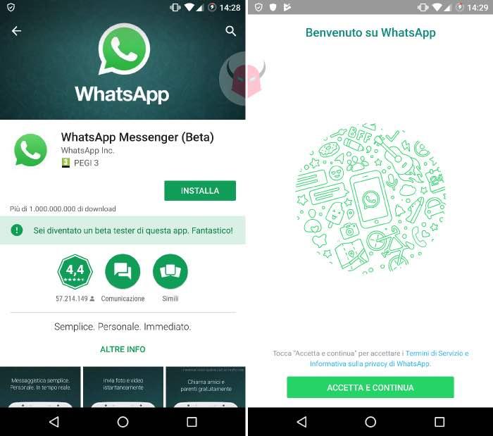 come installare WhatsApp su Android con lo smartphone tramite Google Play
