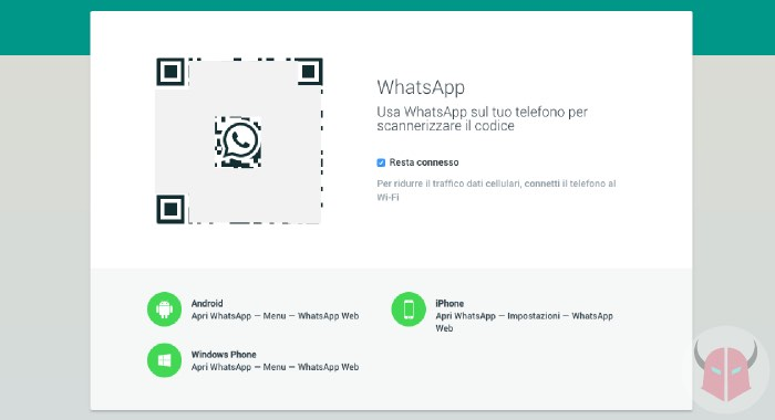 come installare WhatsApp su Android con tablet WhatsApp Web