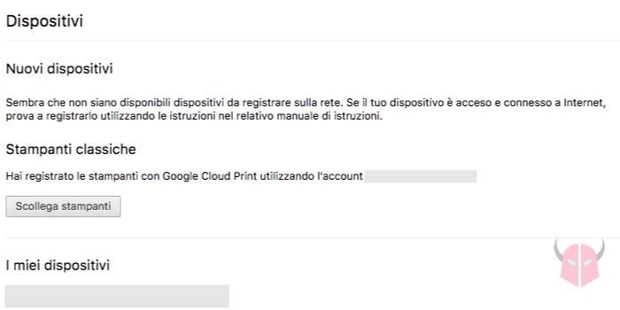 come stampare dal cellulare alla stampante Google Cloud Print