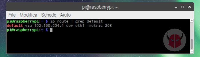 come trovare indirizzo IP router Linux Raspberry Pi Raspbian