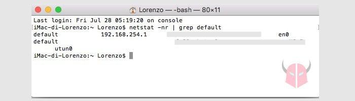 come trovare indirizzo IP router Mac