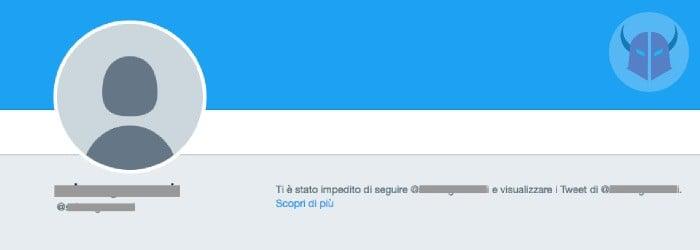 come vedere chi ti ha bloccato su Twitter avvertenza pagina account
