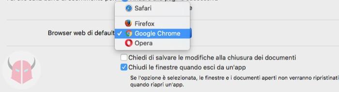 come impostare browser predefinito su Mac impostazioni macOS