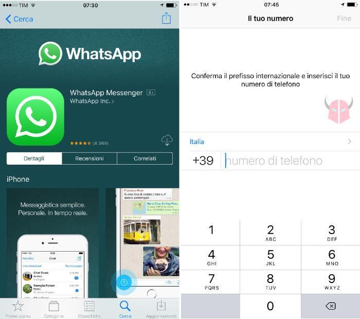 come installare WhatsApp su iPhone download App Store e verifica numero