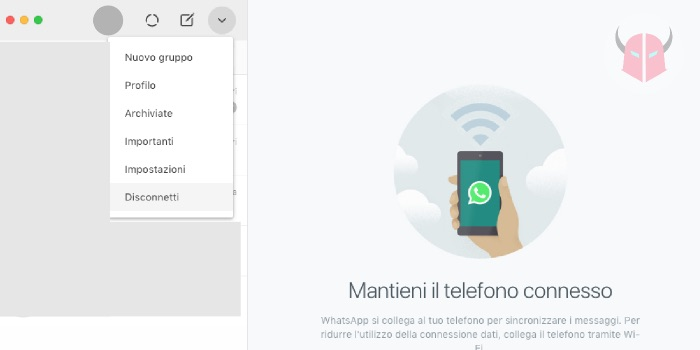 come disconnettere WhatsApp Web dal computer