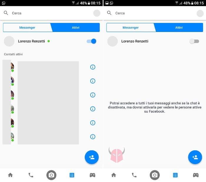 come essere offline su Facebook Messenger Android