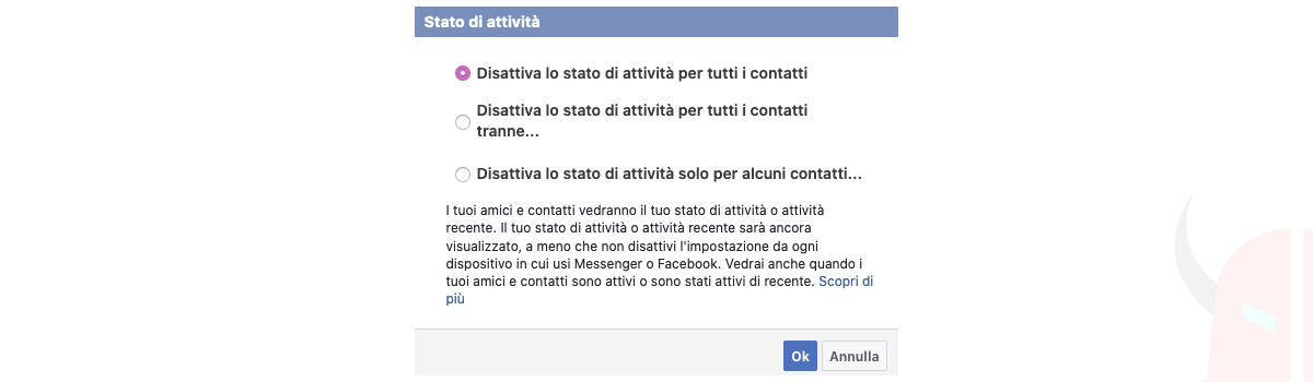 come essere offline su Facebook Messenger PC filtro chat Facebook