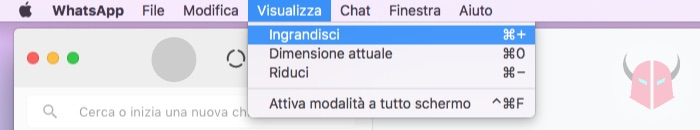 come ingrandire caratteri WhatsApp PC WhatsApp Web