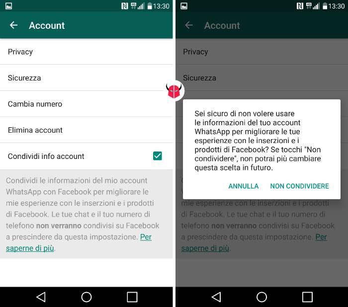 come togliere WhatsApp da Facebook app già installata