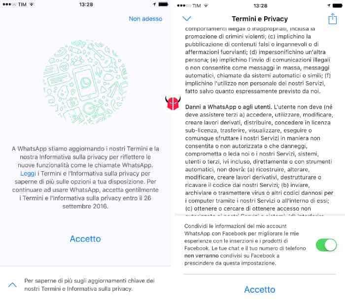 come togliere WhatsApp da Facebook nuova installazione