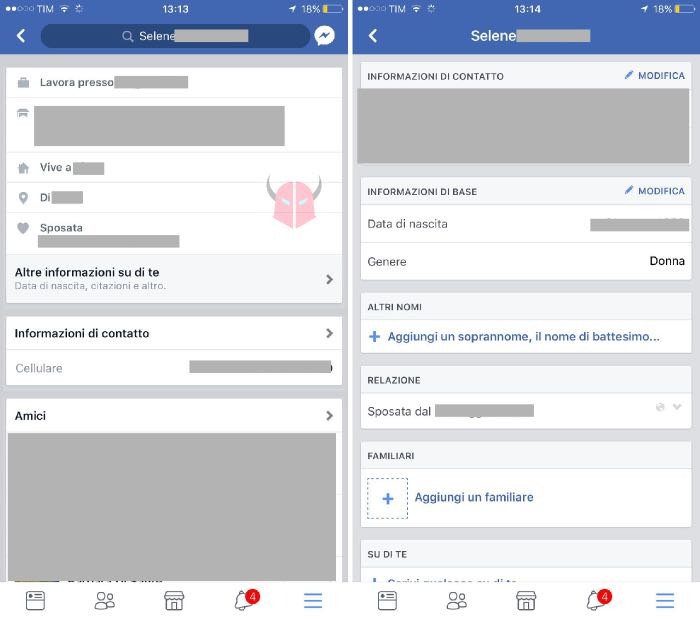 come cambiare data di nascita su Facebook iOS