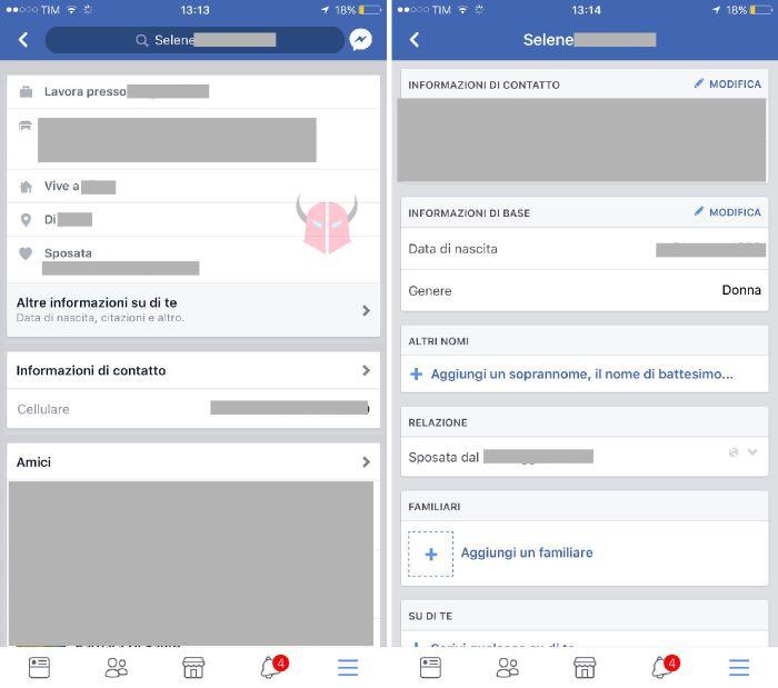 come cambiare data di nascita su Facebook iOS